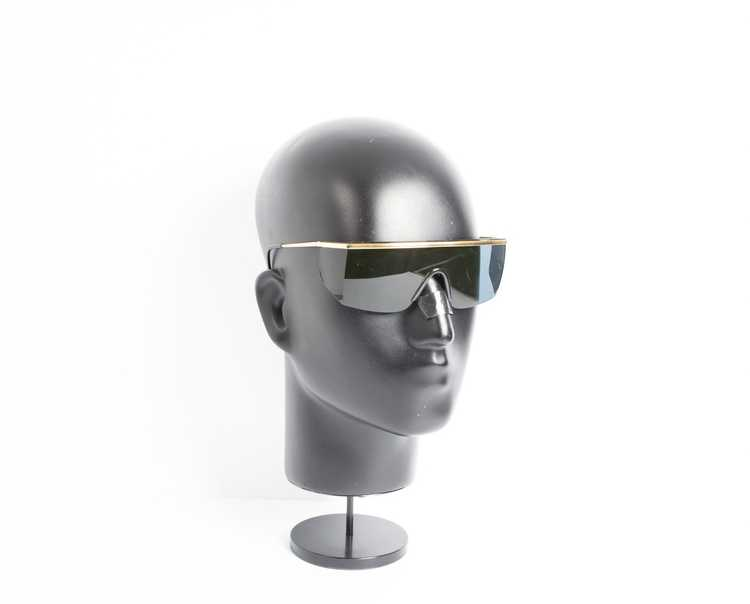 Versace GIANNI VERSACE shield black sunglasses - image 4