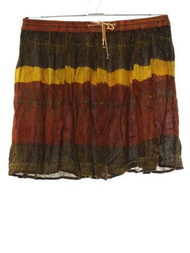 1990's made in India Mini Hippie Broomstick Skirt