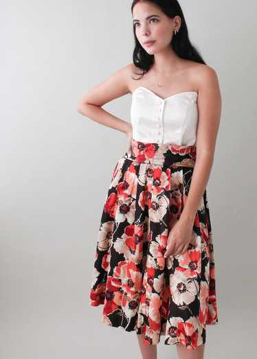 Vintage 1950s Floral Skirt