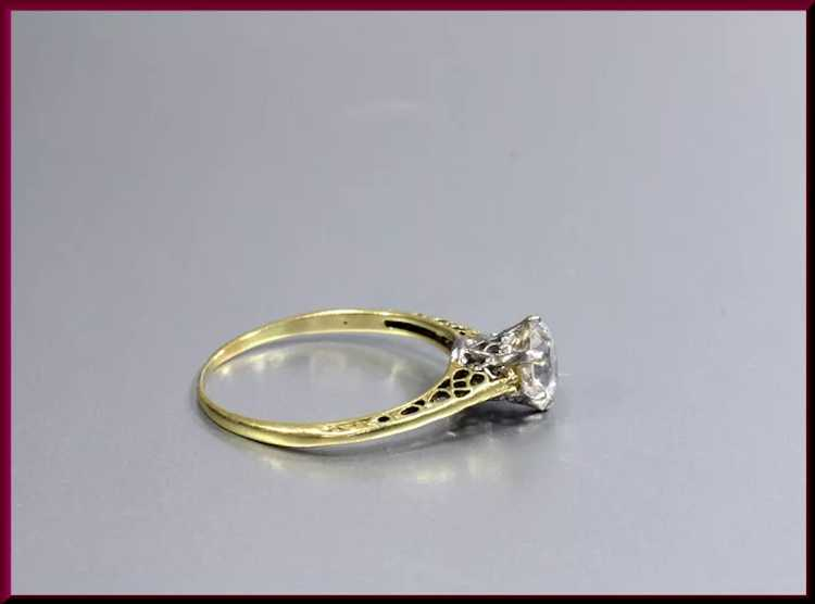 Victorian Diamond Engagement Ring - image 2