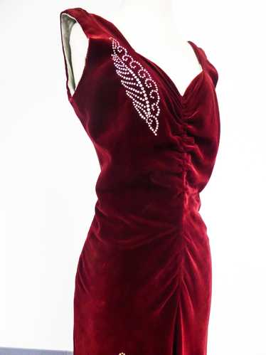 A Nicole Groult / Paul Poiret Evening Dress in Vel