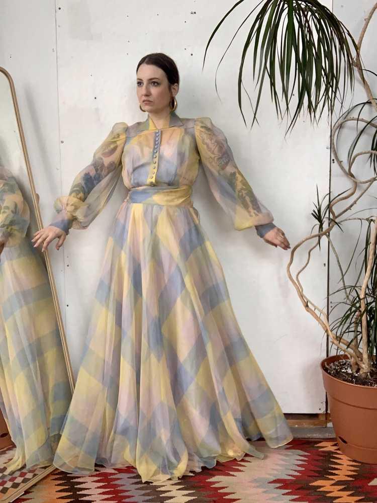 RARE 1940s Ceil Chapman Gown - image 3