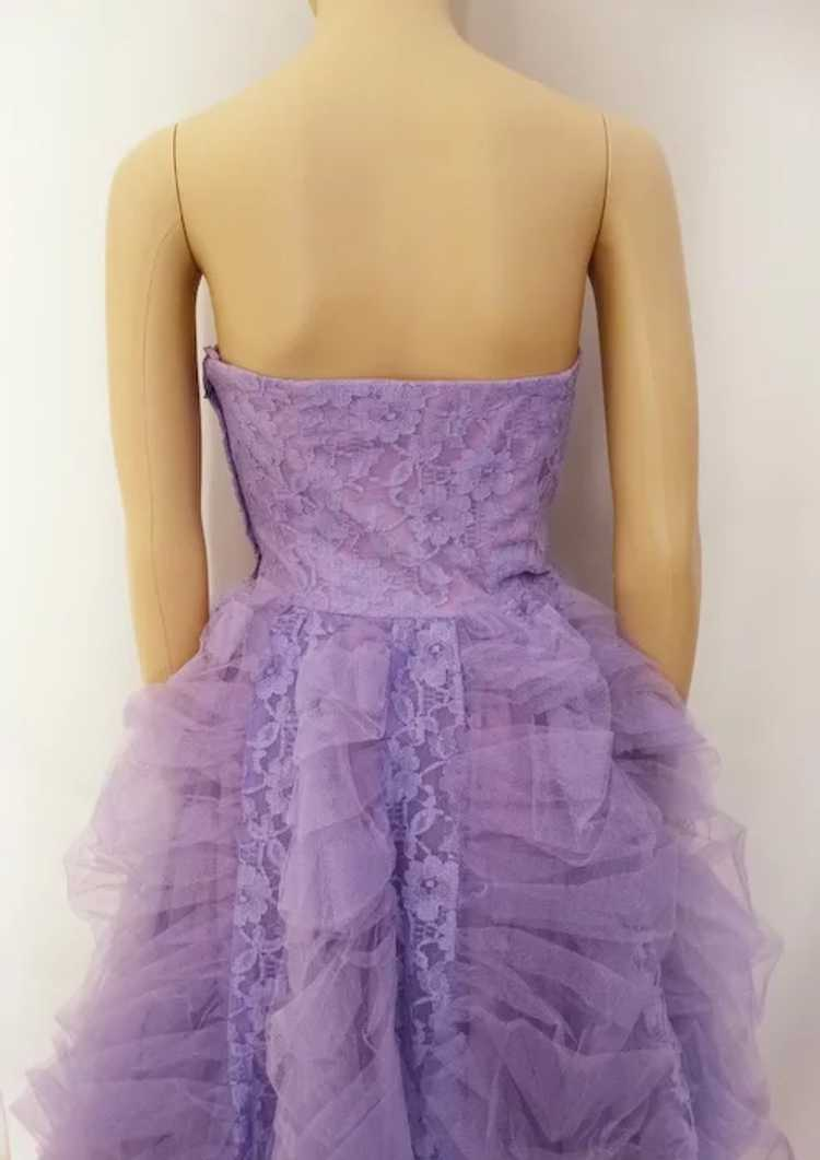 Vintage 1940s Gown // Lavender Gown// Strapless G… - image 4