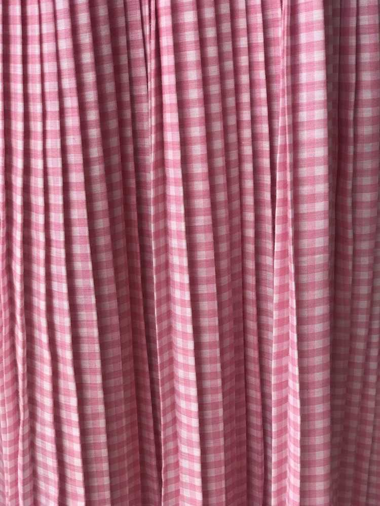 1960s Pink Pleated Collar Gingham Day Dress - image 11