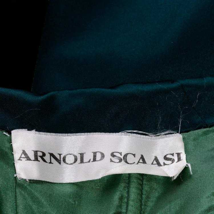 Arnold Scaasi Strapless Green Evening Gown W/ Vel… - image 8