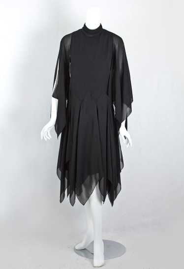 Bill Blass chiffon dress, 1970s