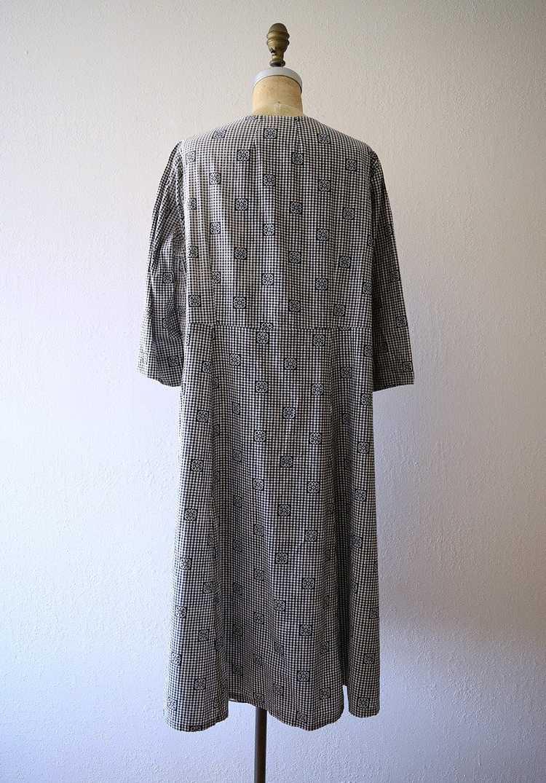 Antique calico dress . vintage gingham dress - image 3