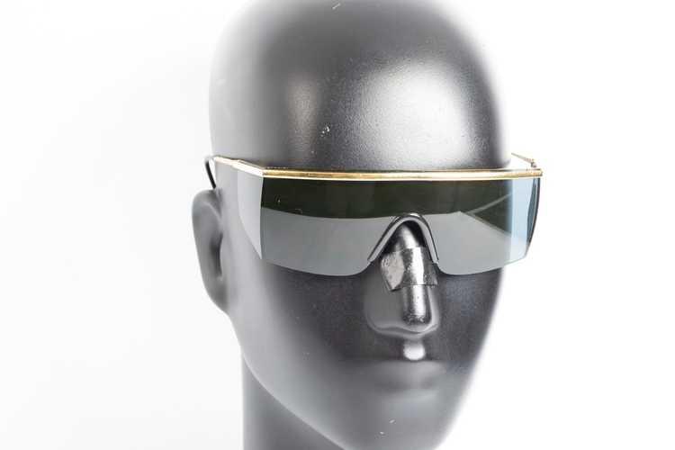Versace GIANNI VERSACE shield black sunglasses - image 2