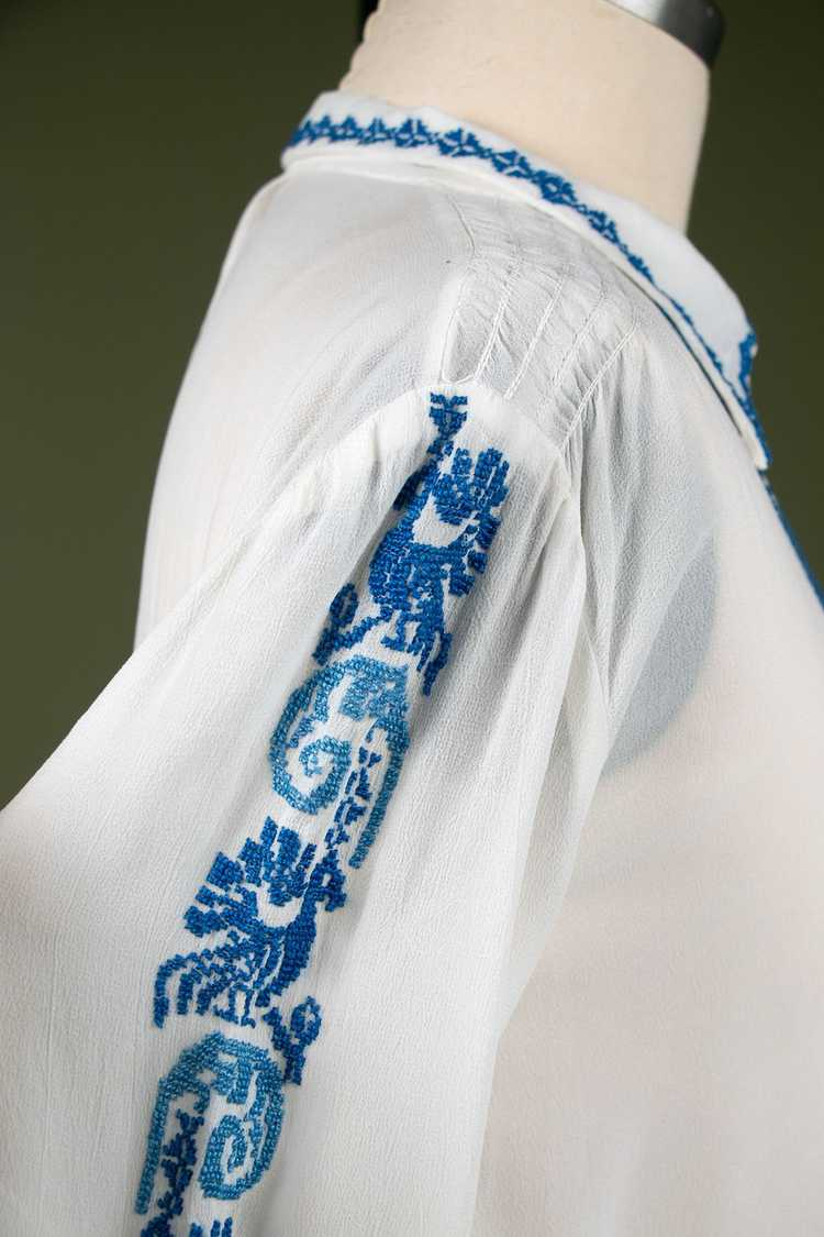 Vintage 1930's Embroidered Peasant Blouse - image 8