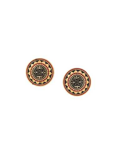 Chanel Pre-Owned - 1990s CC button earrings - wome