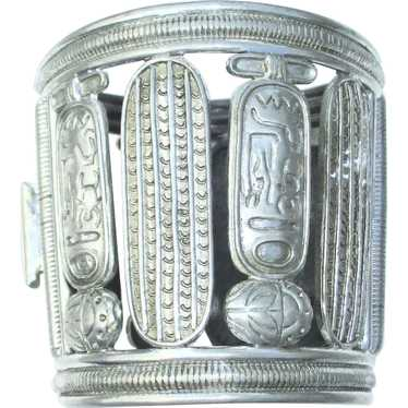 1940s Egyptian Revival Hinged Cuff