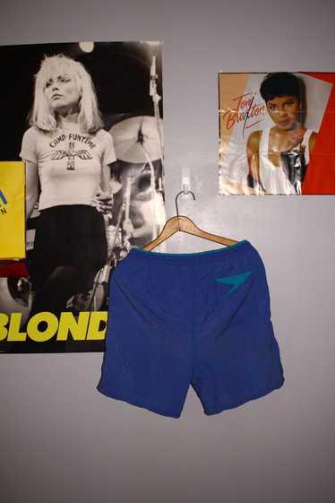 Speedo × Vintage 80s Speedo Shorts (Aqua)
