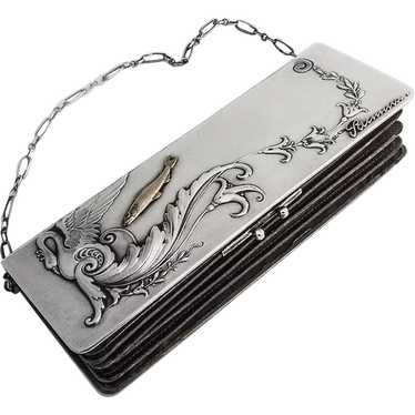 Art Nouveau Lady s Purse Russian 84 Standard Silve
