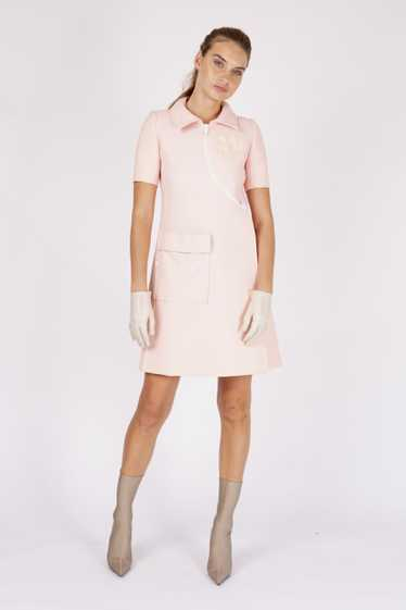 Courreges1967 Couture numbered zip front dress