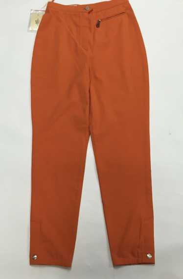 Vintage HERMES Orange Cotton-blend Riding Pants