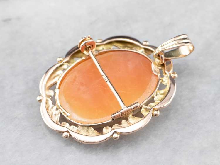 Mid Century Cameo Pendant or Pin - image 5