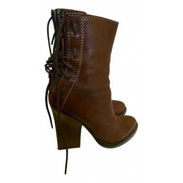 Ann Demeulemeester Brown Leather Ankle boots for W