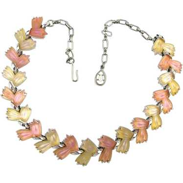 1950s Fruit Salad Glass Necklace