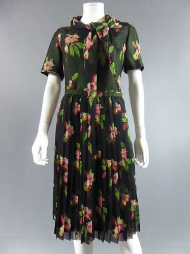 Flowered dress 1930-1950s