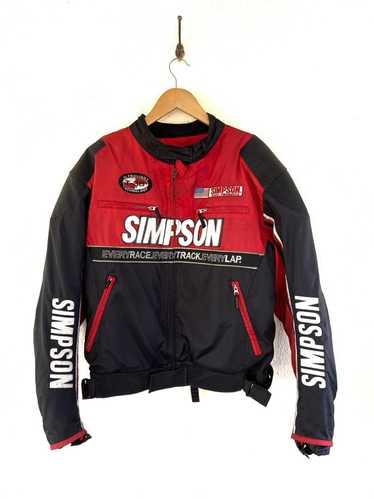 Vintage SIMPSON Motorcycle Jacket Racing Team Motosports Vintage Clothing