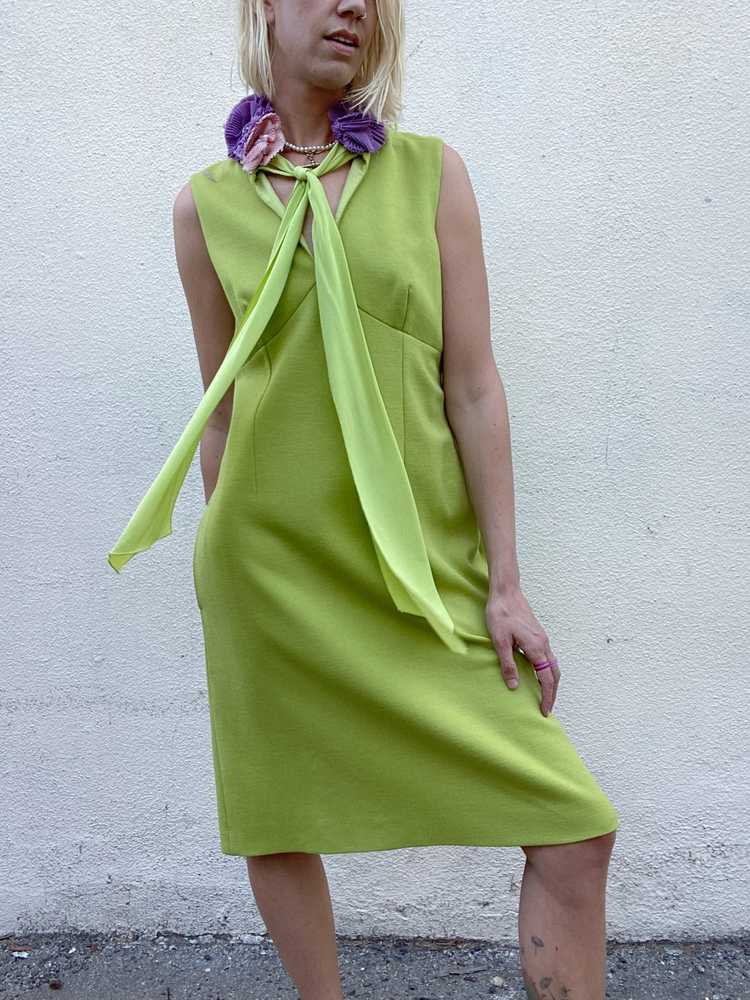 Vintage Moschino Chartreuse Dress - image 3