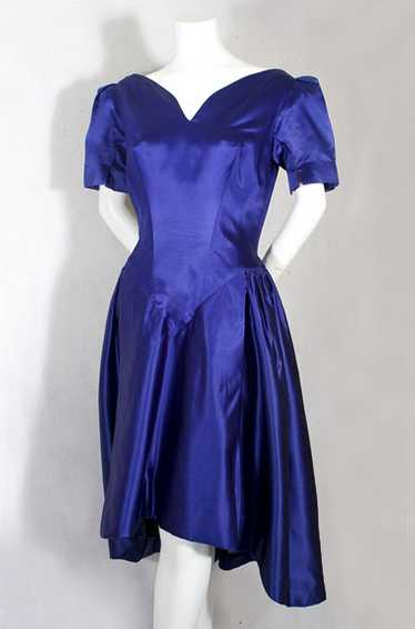 Scaasi satin cocktail dress, late 1950s-early 1960