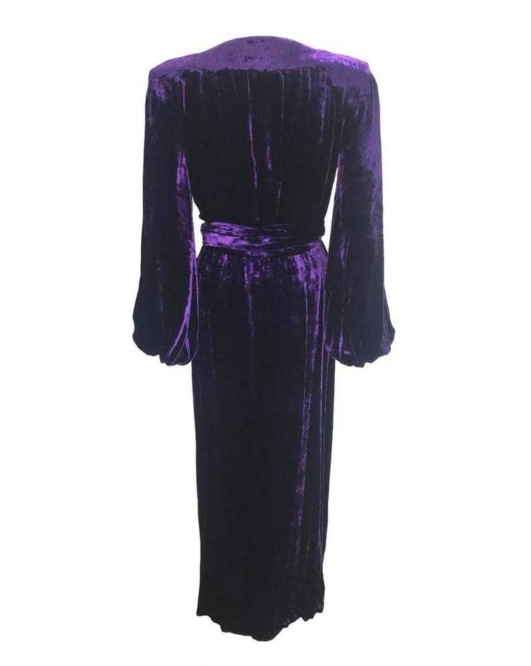 Yves Saint Laurent 1970s Velvet Gown - image 2