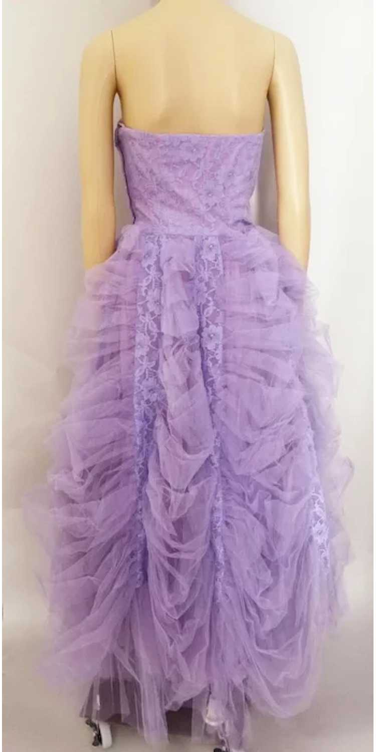 Vintage 1940s Gown // Lavender Gown// Strapless G… - image 7
