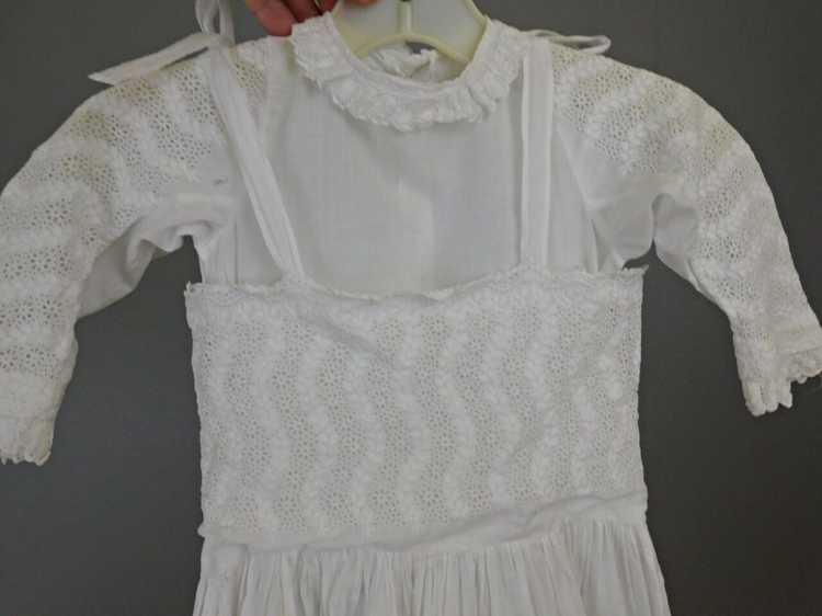 Antique Edwardian Little Girl Dress, Embroidered … - image 12