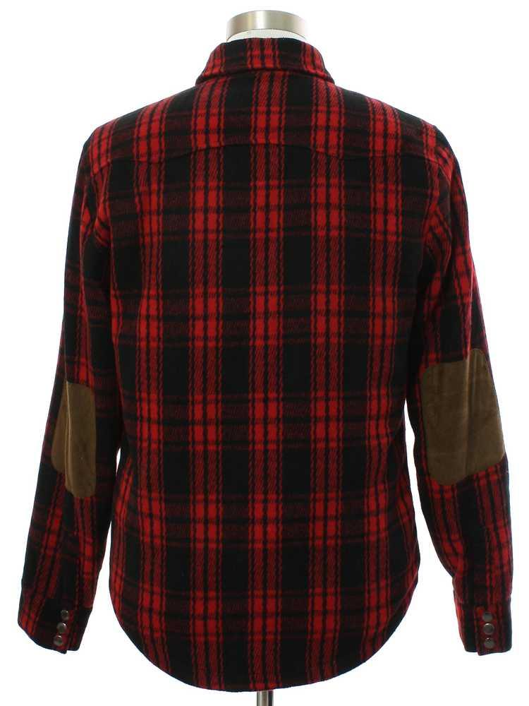 1990's Mens Fleece Wool Blend Shirt Jacket - image 3