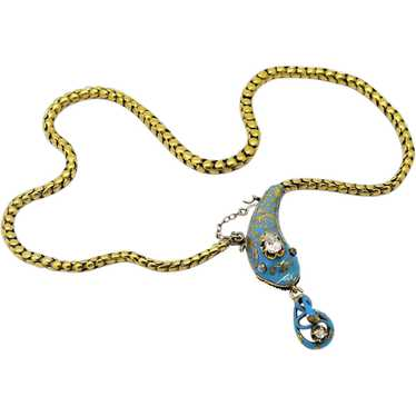 Exceptional Victorian Snake Necklace