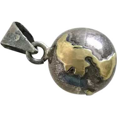 Musical Jingling Globe Vintage Charm Pendant Sterl