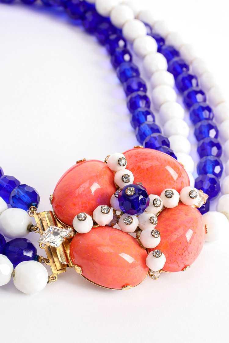 ARNOLD SCAASI Multi-Strand Cabochon Bead Collar - image 6