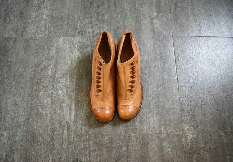 Edwardian shoes . antique leather shoes - image 2
