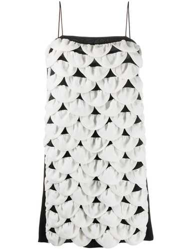 Chanel Pre-Owned scalloped mini dress - White