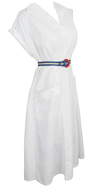 Fresh and Breezy 1940s Wrap Dress