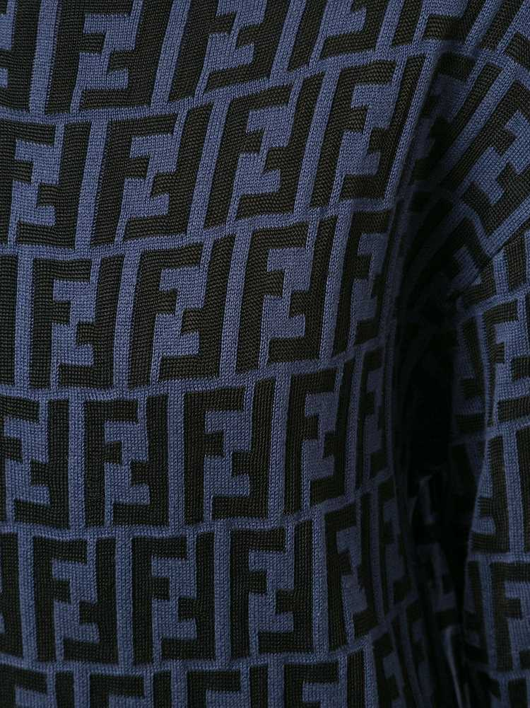 Fendi Pre-Owned Zucca pattern knitted top - Black - image 5