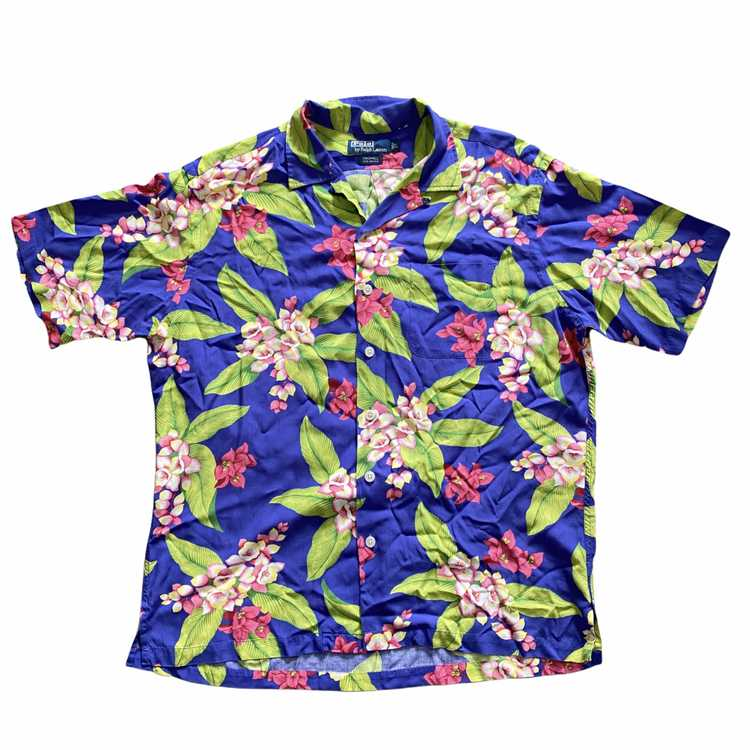 Polo rayon aloha shirt. Rayon large - image 1