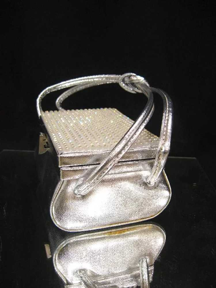 Arnold Scaasi Silver Studded Evening Bag - image 5