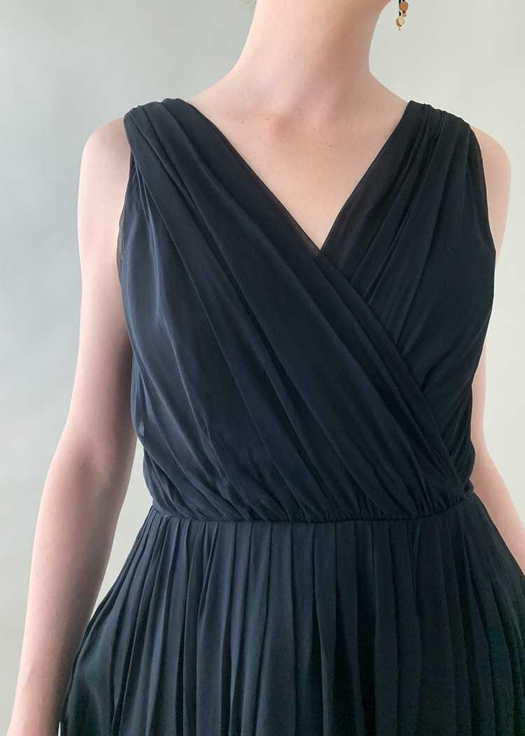 Vintage 1950s Gigi Young Black Chiffon Dress - image 4