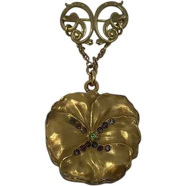 Victorian Gold Plated Chatelaine Locket
