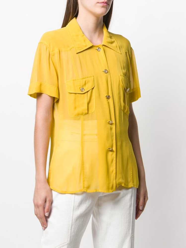 Moschino Pre-Owned 1990's shortsleeved sheer shir… - image 3