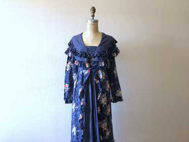 Vintage 1930s dress . 30s floral print dress