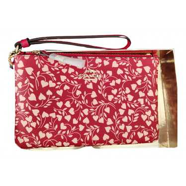 Coach Red Leather Clutch bag for Women