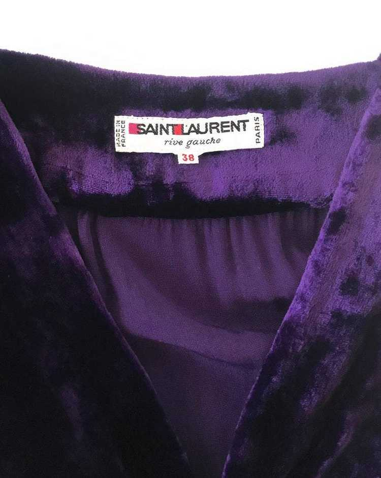 Yves Saint Laurent 1970s Velvet Gown - image 4