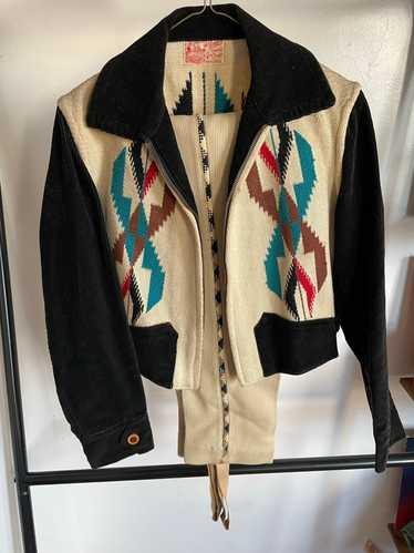 Vintage La Azteca Chimayo 1930s Handwoven Jacket &
