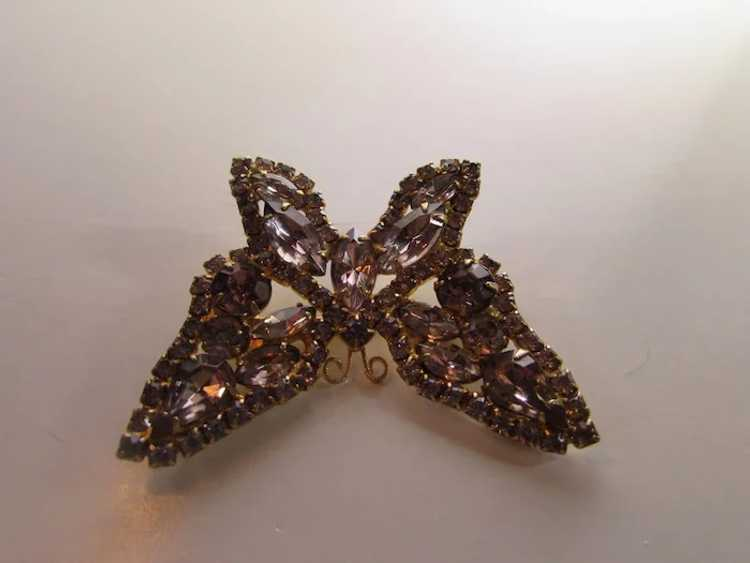 Vintage Dusty Rose Crystal Butterfly - image 8