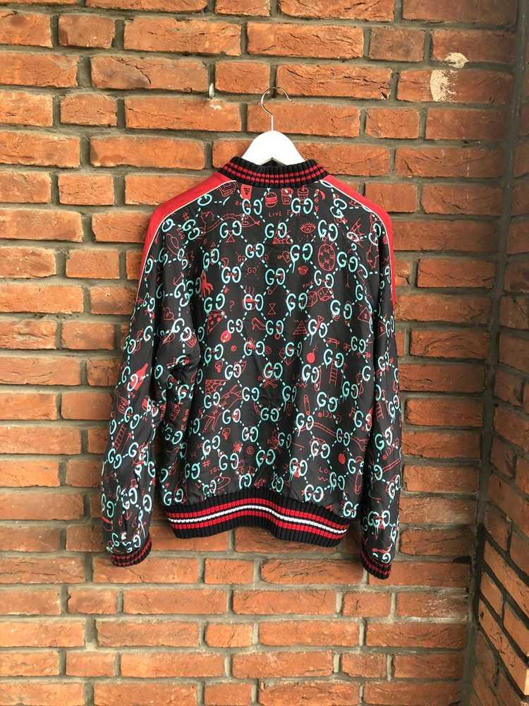 Gucci Gucci Ghost Silk Bomber - image 3