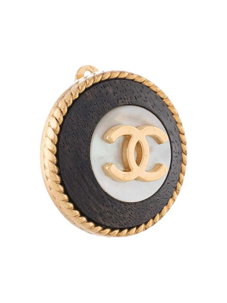 Chanel Pre-Owned 1996 CC button clip-on earrings … - image 3