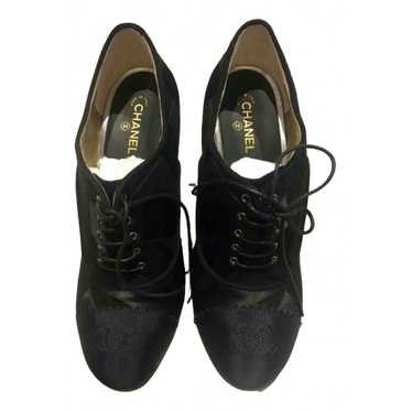 Chanel Black Suede Ankle boots for Women 37.5 EU